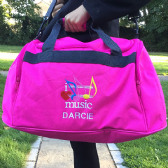 Personalised I LOVE MUSIC Bag Mini Holdall   BG200